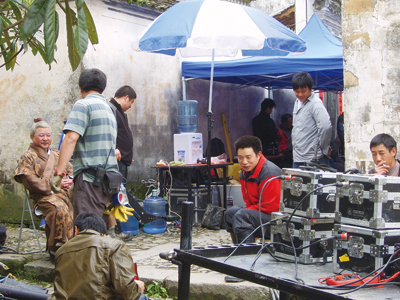 电影版《武林外传》在关麓宏村南屏景区拍摄
