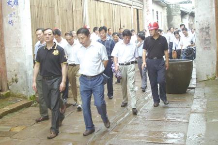 安徽省桐城市领导参观考察孔城老街