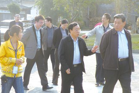 湖南省委巡视组一行赴张谷英景区考察指导工作