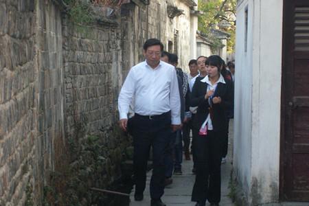 安徽省常委、宣传部长曹征海一行莅临宏村调研工作
