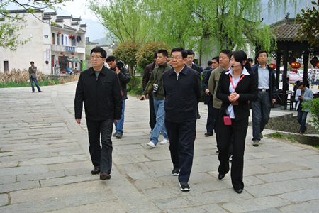 国家商务部部长、党组书记陈德铭莅临宏村景区
