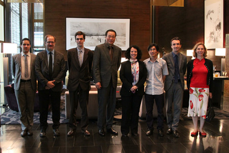 French Ambassador to China Cordially Met with The chairman Huang Nubo