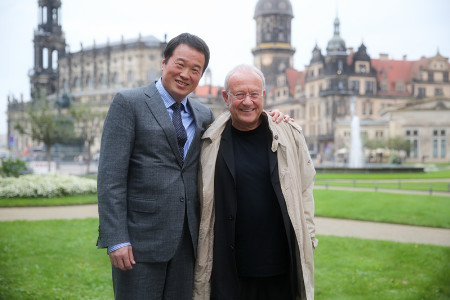 The curator of European Art Center in Dresden Received Chairman Huang Nubo and His Team Warmly
