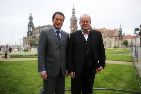 Chairman Huang Nubo Shared a Dinner with the Mayor of Dresden