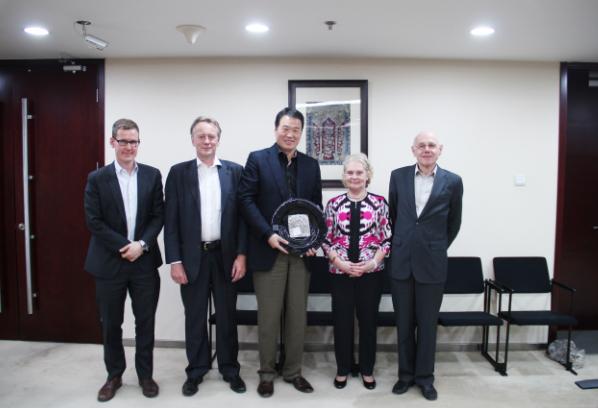 Norwegian Ambassador-Svein Saether Visits Zhongkun Group