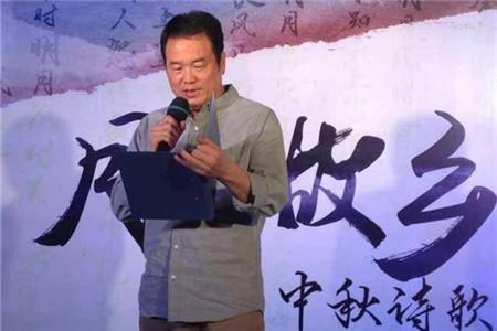 """诗人骆英应邀参加""""月之故乡―中秋诗歌朗诵会""""节目录制"""